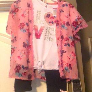 2T Love & butterflies outfit